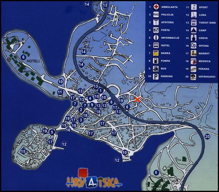 Stadtplan Primosten
